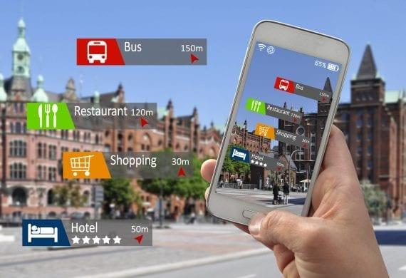 Smartpohne unterwegs genutzt