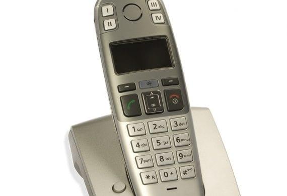 Telefon von Gigaset in Ladestation