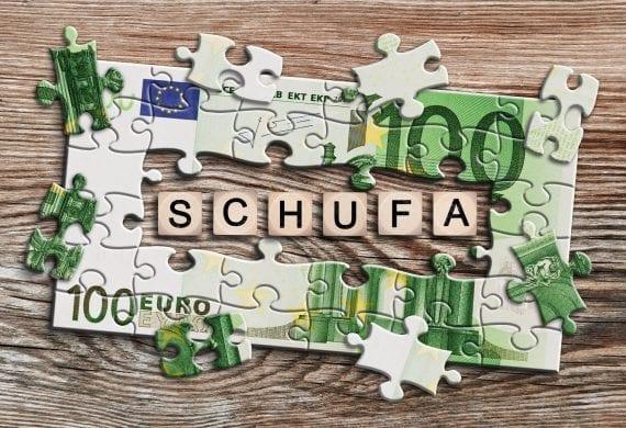 Ein Puzzle mit SCHUFA Schriftzug
