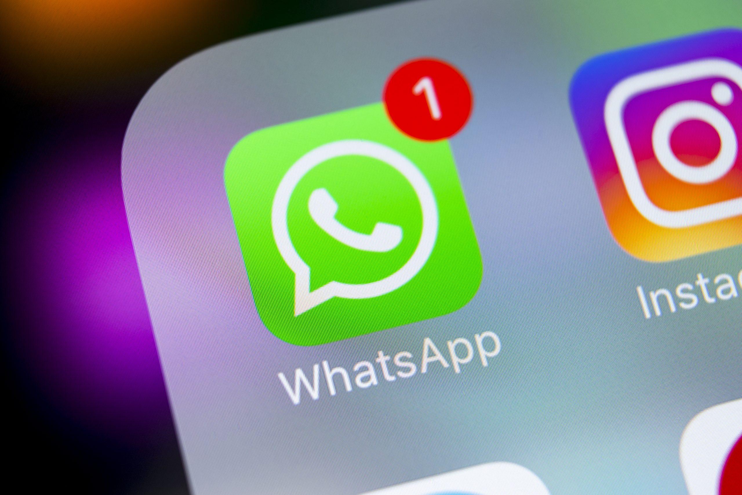 Whatsapp Haken Ausstellen
